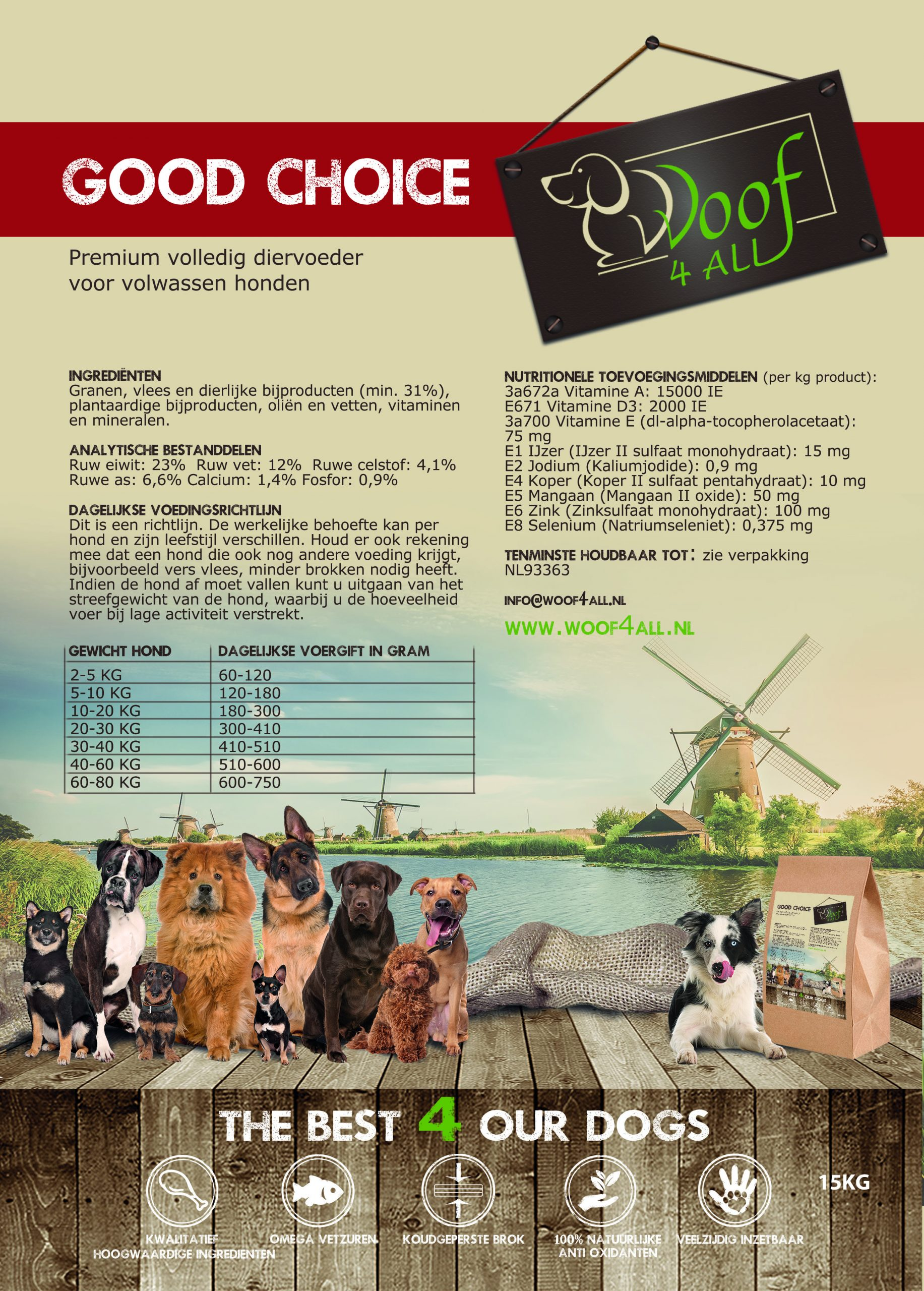 Woof 4 All - Good choice hondenvoer