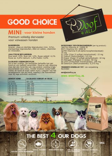 Etiket Good choice Mini 5KG - WOOF 4 all