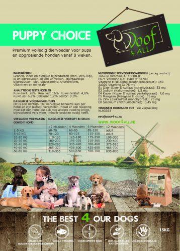 Etiket Puppy choice 15KG - WOOF 4 all