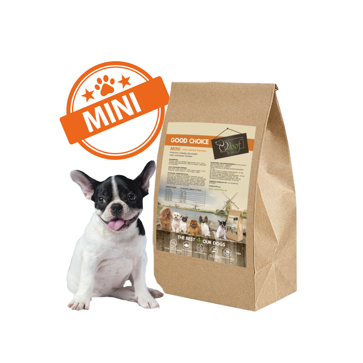 WOOF 4 all - Good Choice Mini hondenvoer